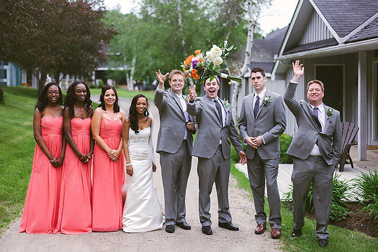 27 Groomsmen And Bridesmaids Portraits With Bride And